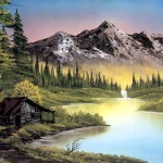 Bob Ross Landscape Painting Art Toons Mag