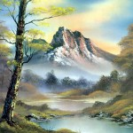 Bob Ross Landscape Painting Oil Toons Mag