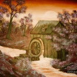 Bob Ross Rosss Watermill Paintings For Sale Paintingsforsale