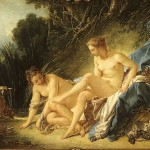 Boucher Francois Diana Resting After Her Bath Painting