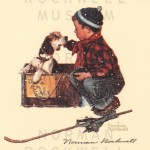 Boy And His Dog Puppies For Sale Norman Rockwell Signed Prints