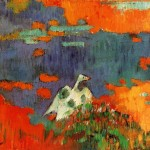 Breton Woman And Goose The Water Paul Gauguin Wikipaintings