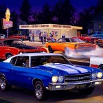 Bruce Kaiser Muscle Car Paintings Puzzles
