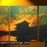 Buddha Temple Painting Feng Shui