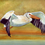 Bunny Artwork Pelican Watercolor Painting