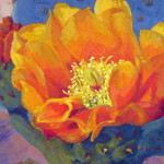 Cactus Flower Series Smooth Prickly Pear Painting