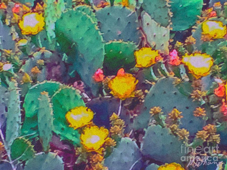 Cactus Painting Methune Hively Prickly Pear Fine Art