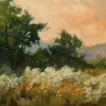 California Impressionist Oil Painting Landscape Arroyo Meadow