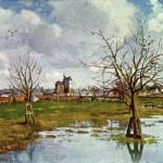 Camille Pissarro Paintings Paysage Champ Inonde