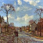 Camille Pissarro Paintings Rue Louveciennes