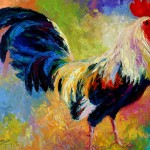 Candy Rooster Painting Marion Rose Eye Fine Art