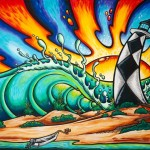 Cape Look Out Surf Art Painting Drew Brophy