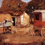 Carriage Business Grant Wood Wholesale Oil Painting China Picture