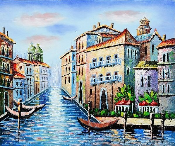 Cheap Discount Venice Oil Paintings For Sale