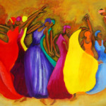 Chimac Colorful Painting Dancers