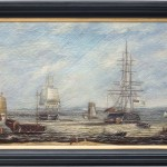 China Trade Marine Oil Painting Off Whampoa Anchorage