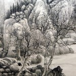 Chinese Ink Painting Landscape Wall Mural