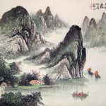 Chinese Landscape Paintings The Boats River