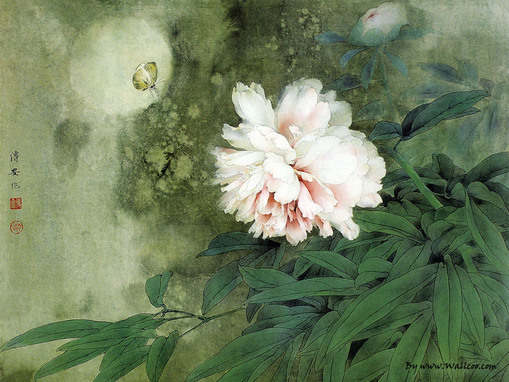Chinese Paintings Gongbi Flower And Bird