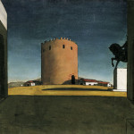 Chirico The Red Tower Endless Streams And Forests