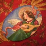 Christmas Card Painting Project Renaisssance Angel Musician