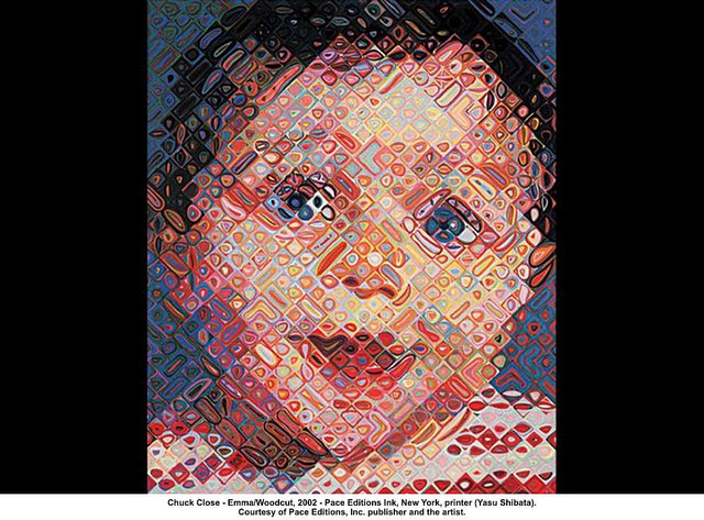 Chuck Close Emma Woodcut Flickr Sharing