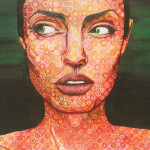 Chuck Close Portrait Painting