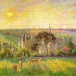 Church And Farm Eragny Camille Pissarro Artinthepicture