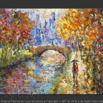 Cityscape Art Park Painting Old And Modern Paris