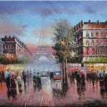 Cityscape France Impressionism Oil Painting Inches