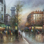 Cityscape Paintings Hand Painted Oil