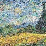 Classic Masterpiece Paintings Made Shredded Magazines Modern