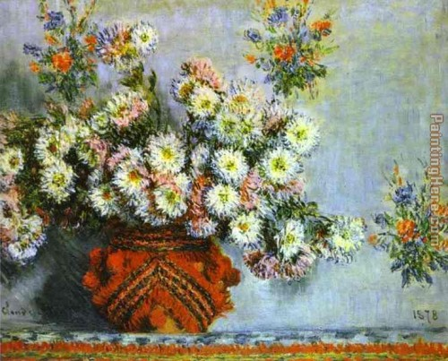 Claude Monet Chrysanthemums Painting Anysize Off