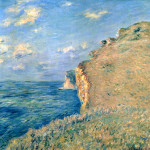 Claude Monet Paintings Cliff Fecamp Jpg
