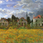 Claude Monet Paintings Houses Argenteuil Jpg