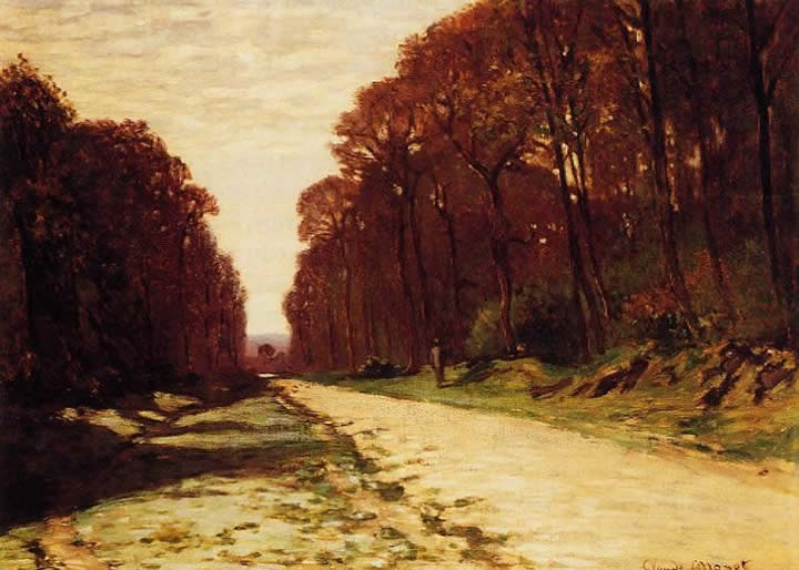 Claude Monet Road Forest Painting Best Paintings For Sale