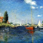 Claude Monet The Red Boats Argenteuil Painting