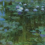 Claude Monet Waterlilly Painting Nympheas
