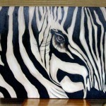 Close Painting Zebra Face One Faves
