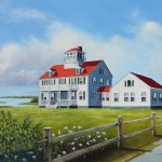 Cod Lighthouse Paintings Cape Oil