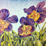 Color Illusion Pointillism Flowers Loversarelunatics Deviantart