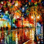 Colorful Avenue Art Streets City Artwork Many Colors Oil Painting