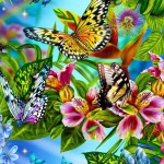 Colorful Butterfly Painting