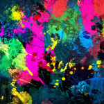 Colorful Paint Splatter Abstract