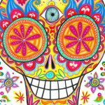 Colorful Sugar Skull Art Thaneeya