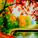 Colorful Vibrant Landscape Oil Painting From Fineproart Gallery Ebay