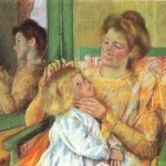 Combing Her Hair Mary Cassatt Oil Painting Reproduction