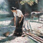 Contemporary Chinese Artist Shang Ding Oil Painting Art Appreciation