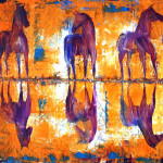 Contemporary Oil Paintings Three Horses