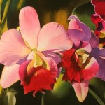 Contemporary Realism The Orchid Watercolor Painting Give Away